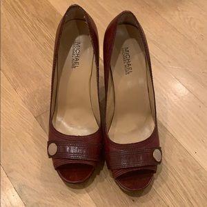 Michael Kira burgundy shoes